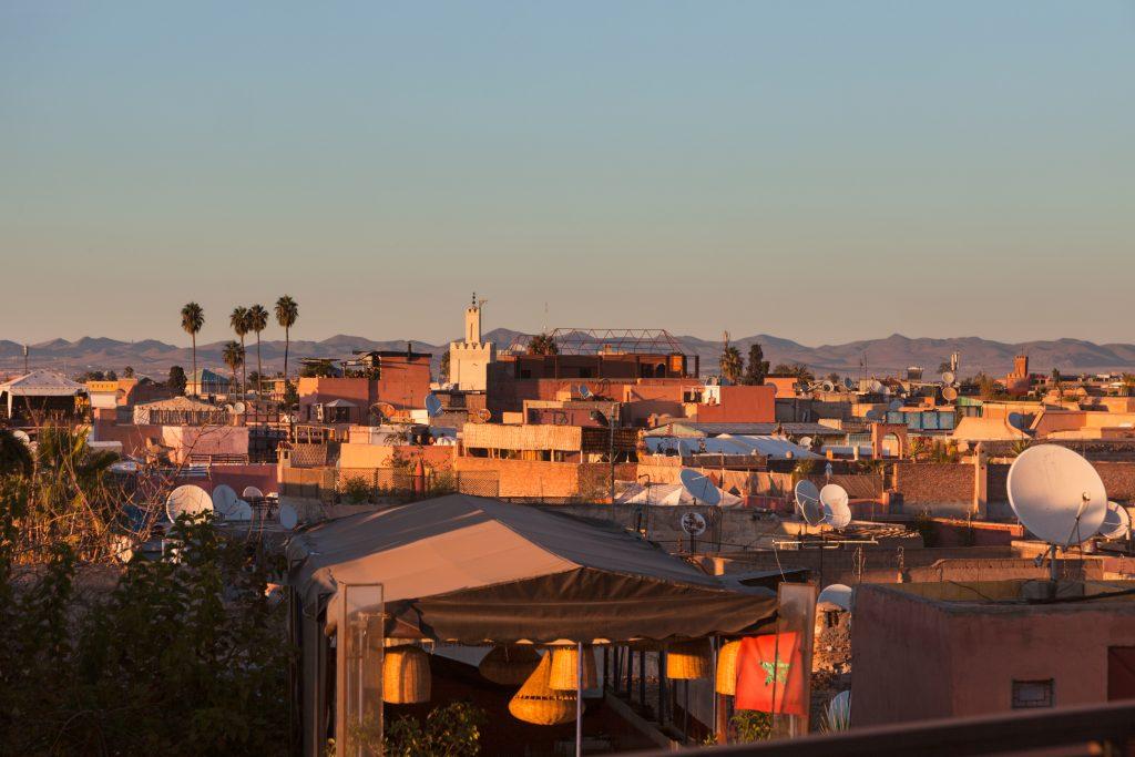 coucher de soleil sur Marrakech - edreams