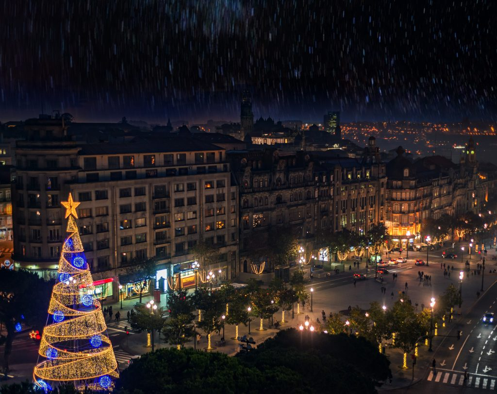 sapin de Noël à Porto