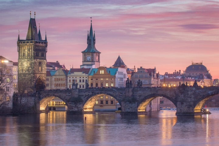 pont coucher de soleil prague - blog edreams