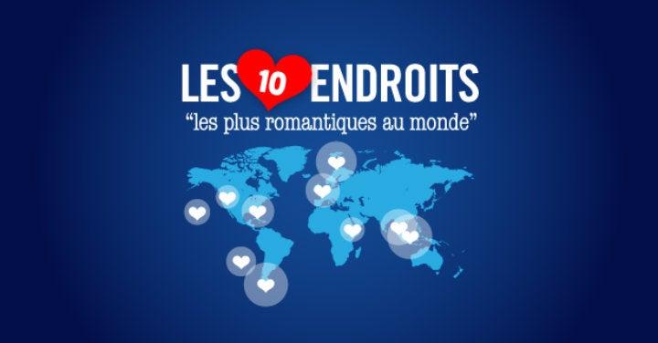 infographie carte endroits romantiques - blog edreams
