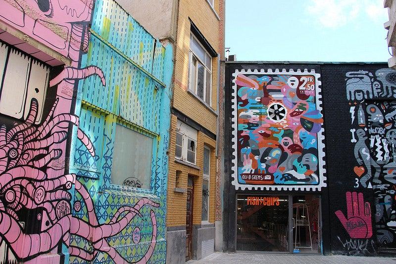 Anvers street art eDreams