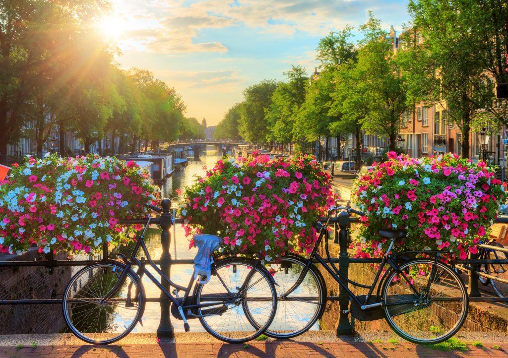 Amsterdam Canaux à vélo