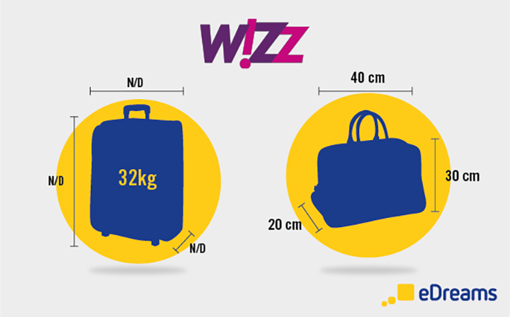 taille bagages wizzair - blog edreams