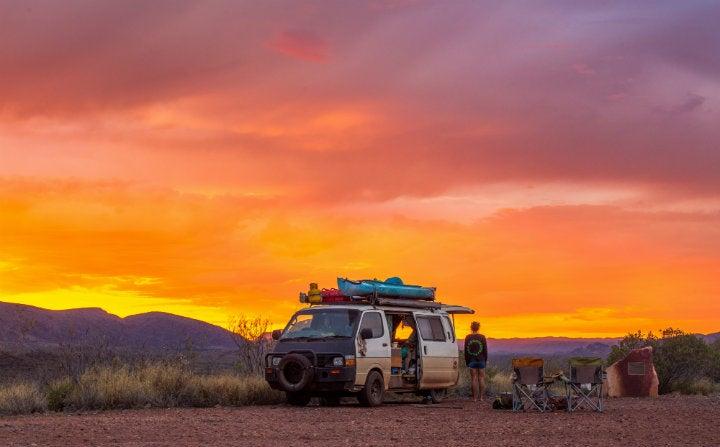 van coucher de soleil ausrtalie territoire du nord - blog edreams
