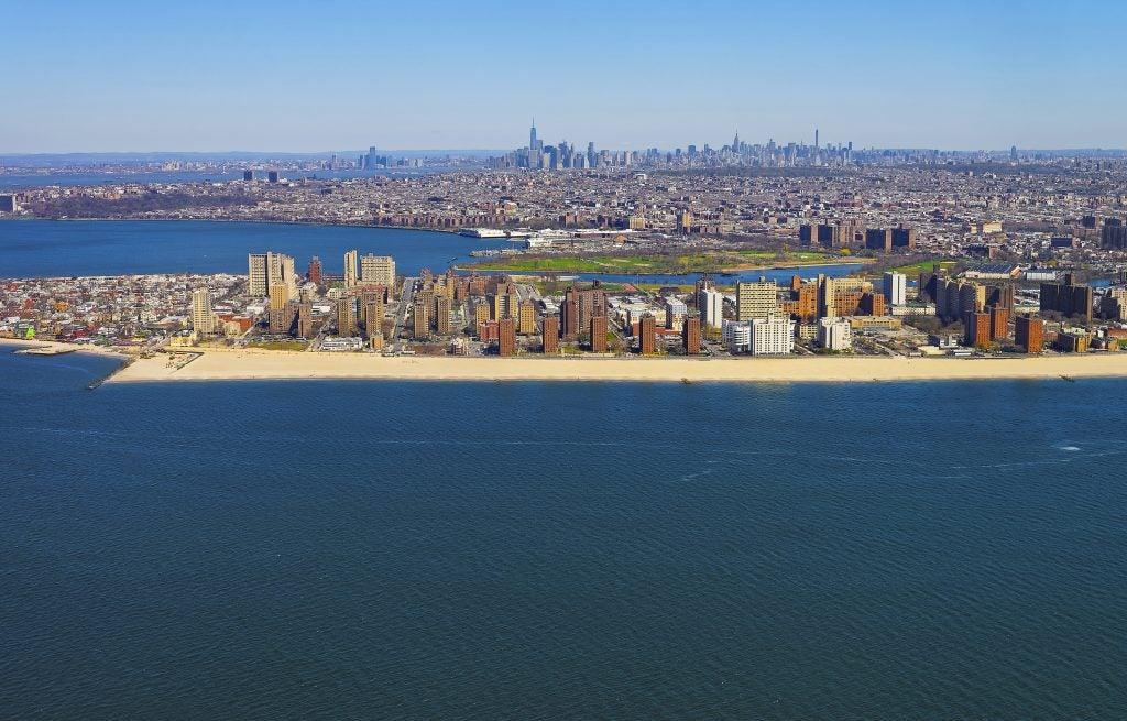 Vue aérienne Coney Island, NYC