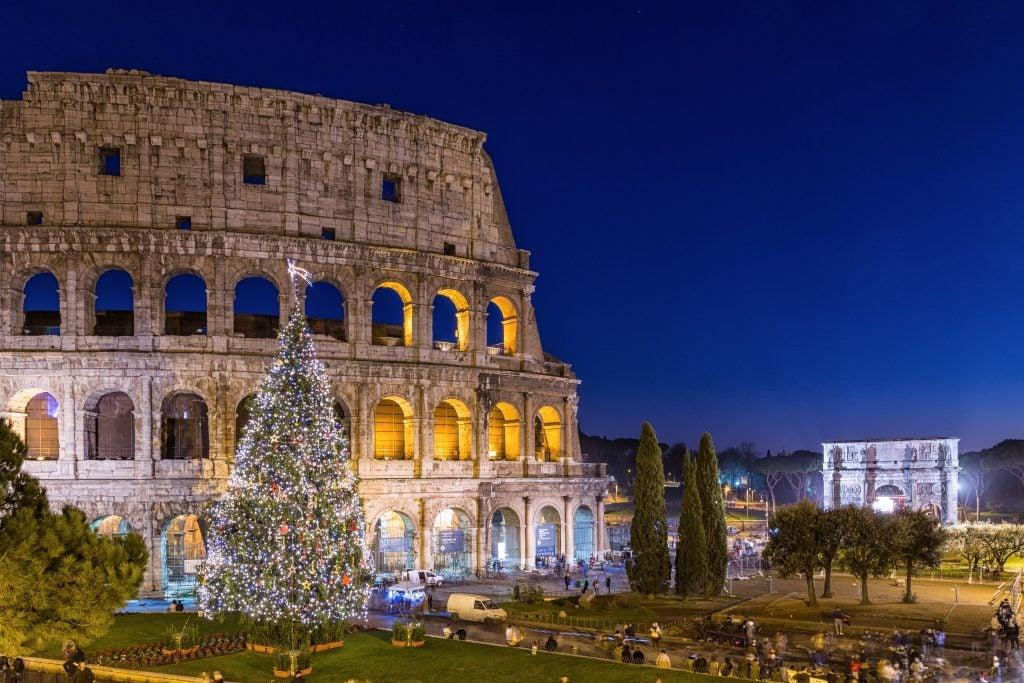 Rome colisée Noël