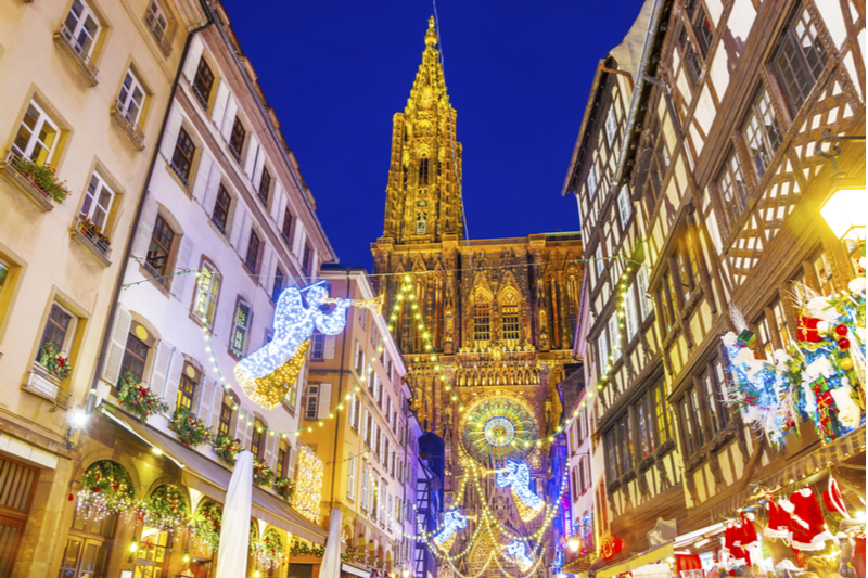 Cathédrale Strasbourg Marché Noel