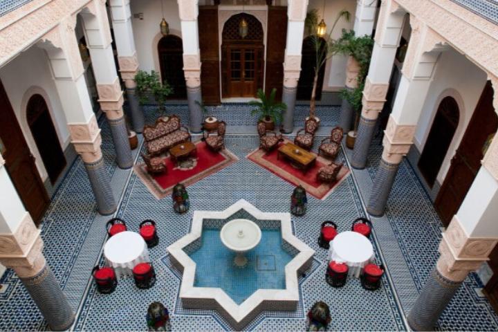 Intérieur d'un riad à Marrakech